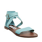 little blue sandals