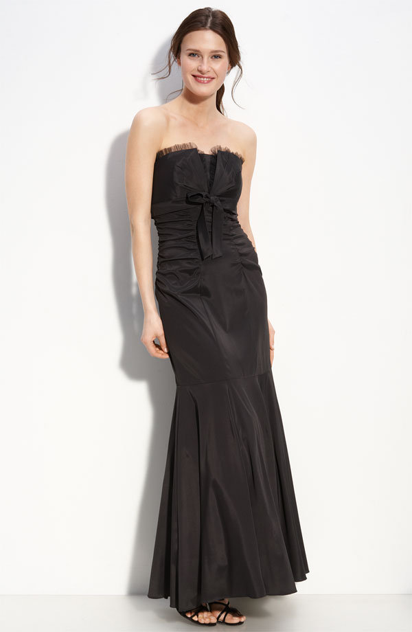 Xscape Strapless Taffeta Mermaid Gown ($195)