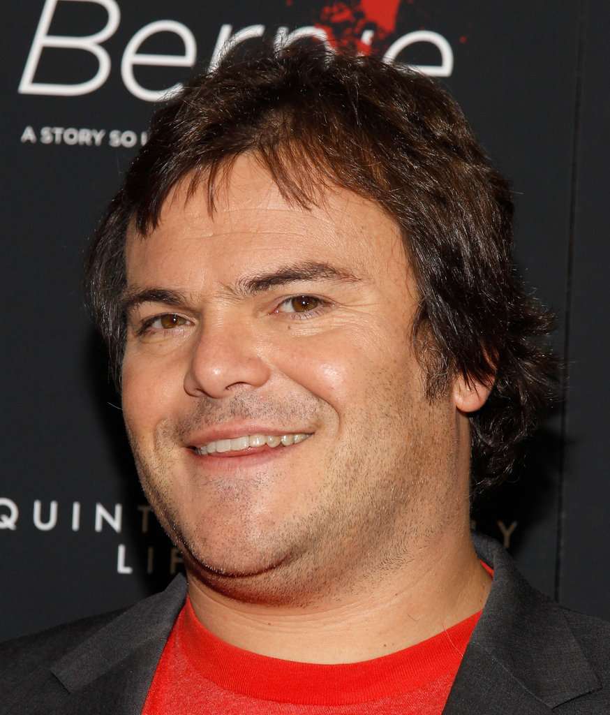 Jack Black smiled at the New York premiere of Bernie.