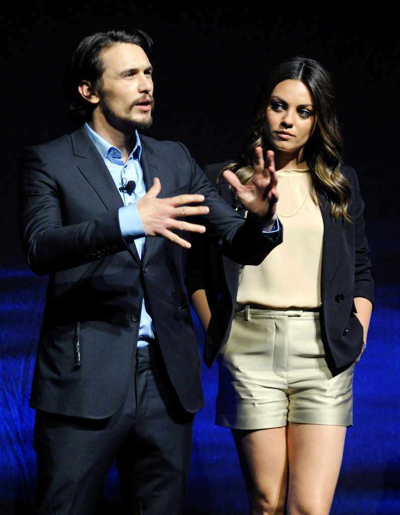 James Franco and Mila Kunis were together on stage at CinemaCon in Las Vegas.