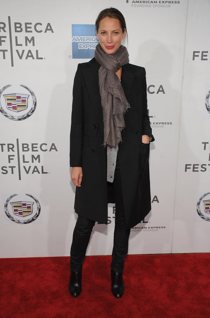 Christy Turlington attended the premiere of Hysteria at the 2012 Tribeca Film Festival.