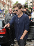 Zac Efron headed out of BBC Radio in London.