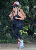 Reese Witherspoon stayed fit with her growing baby bump as she went for a jog with a friend.