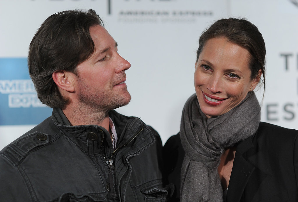 Christy Turlington chatted with Ed Burns at the premiere of Hysteria at the 2012 Tribeca Film Festival.