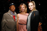 Russell Simmons attended the afterparty of the New York premiere of Bernie with producer Celine Rattray and actress Jennifer Missoni.