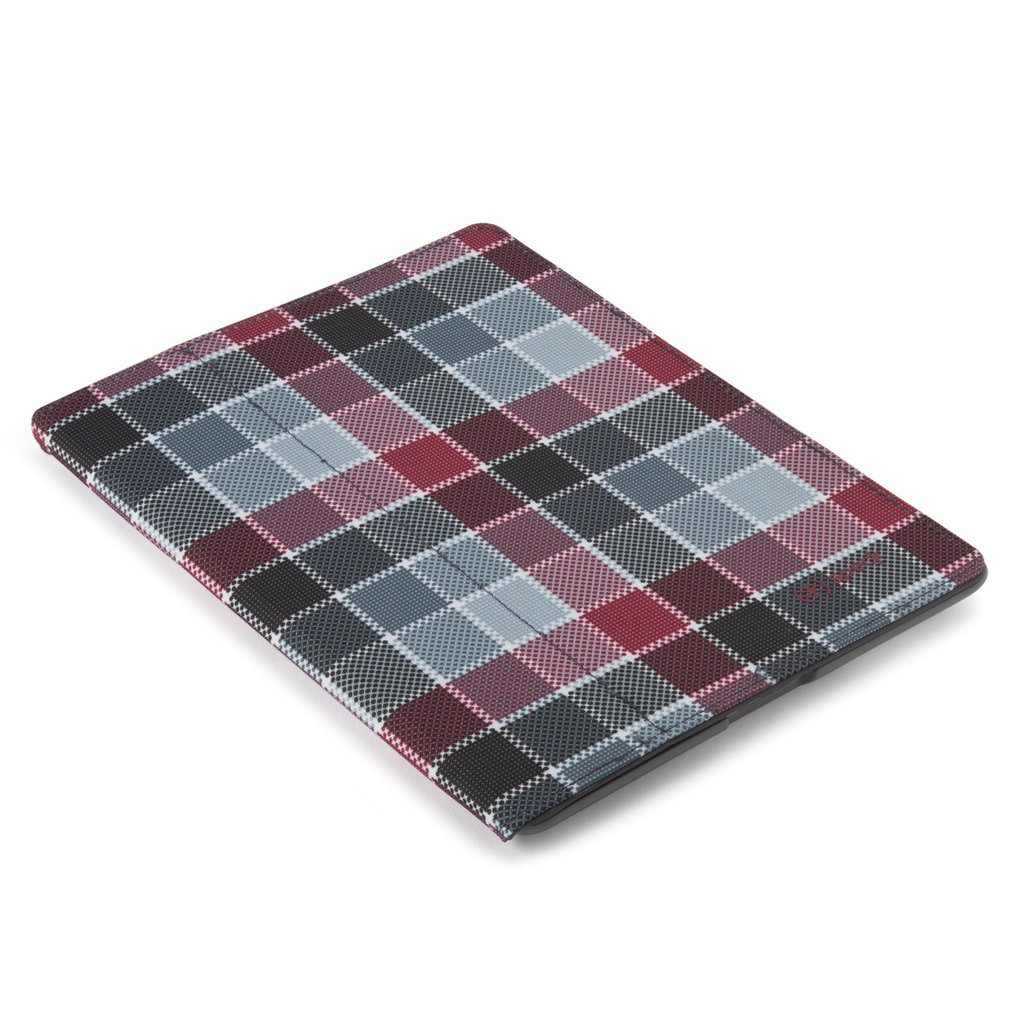 FitFolio for iPad in HalfTone Plaid Grey/Red ($40)
