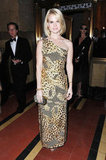 For the Art of Elysium Heaven Gala in January 2012, Alice Eve opted for a more dramatic, exotic-print one-shoulder gown.