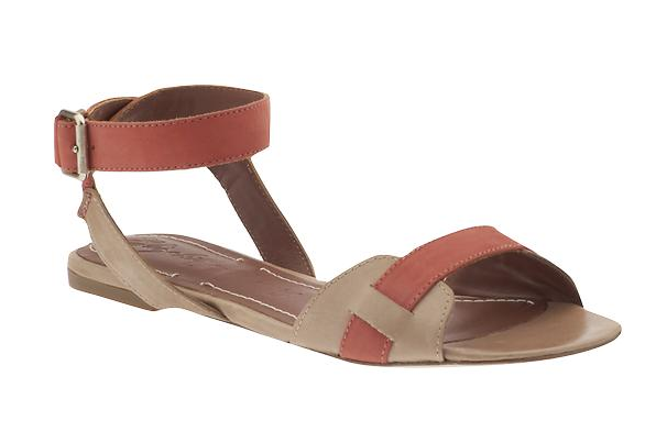 For a sweet accent to your floral frocks, try a pink-banded sandal for an even girlier feel. Elizabeth and James Paige Sandals ($198)