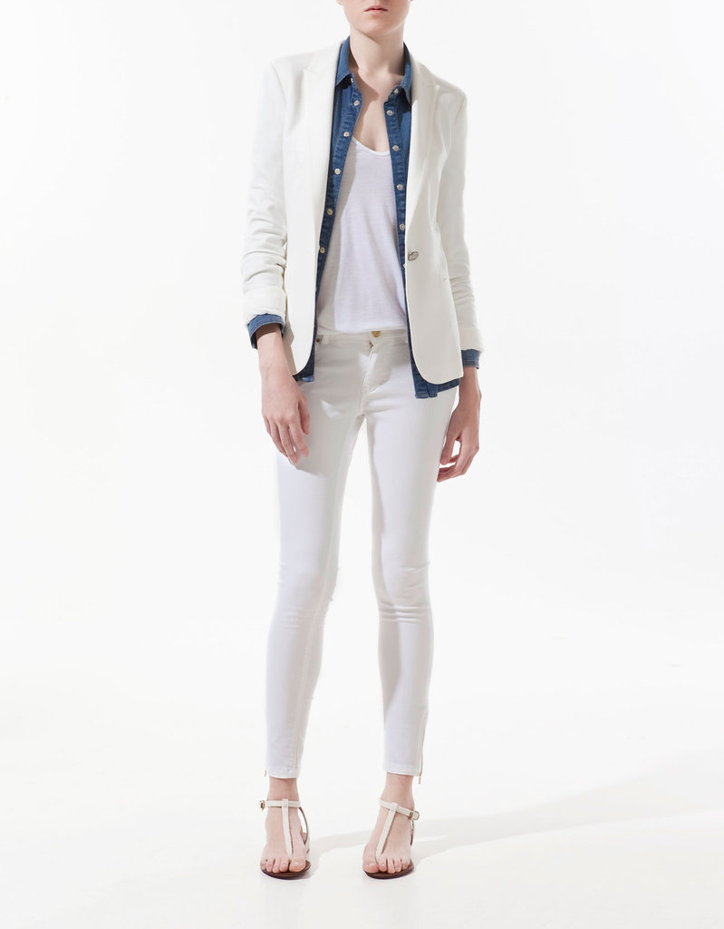 The perfect white blazer to throw on at the office or over an LBD for evening. Zara Jersey Blazer ($80)