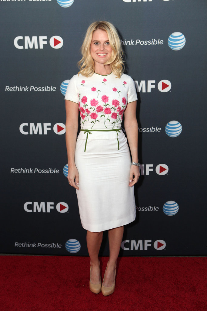 Channeling Spring sweetness in a floral-printed sheath at the Campus MovieFest in 2011.
