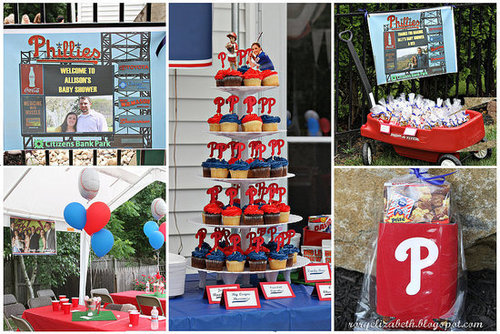 A Philadelphia Phillies-Themed Shower