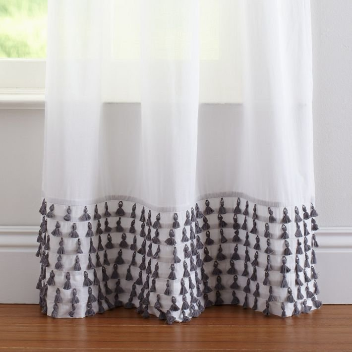 Although great for letting in natural light, sheer white drapes can sometimes lack inspiration. We adore the unexpected ornamentation on these Tassel Sheer Curtains ($70-$100).