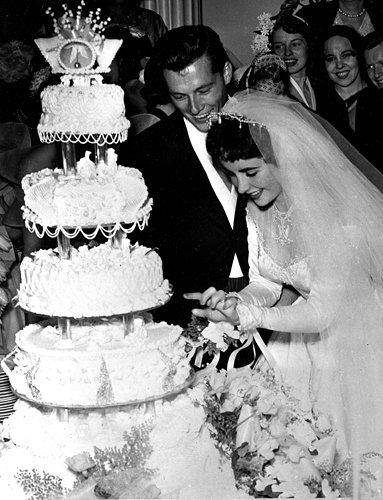 Conrad Hilton Jr. and Elizabeth Taylor