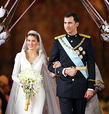 Crown Prince Felipe of Asturias and Letizia Ortiz Rocasolano