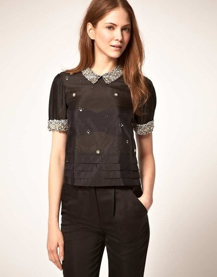 Whistles Embellished Collar Blouse ($227, originally $318)