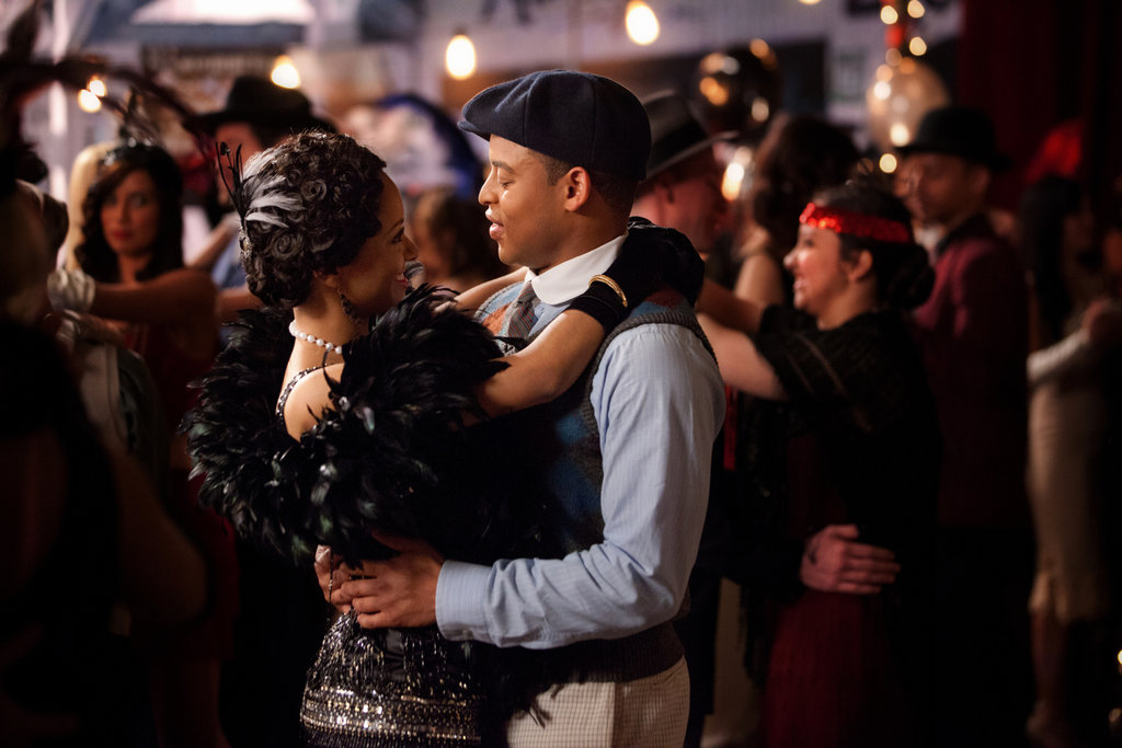 Kat Graham as Bonnie and Robert Ri'chard as Jamie on The Vampire Diaries.