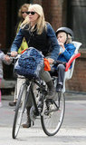 Naomi Watts took her son Sasha Schreiber for a bike ride in NYC.