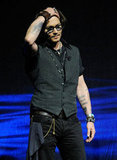 Johnny Depp walked out on stage at CinemaCon in Las Vegas.