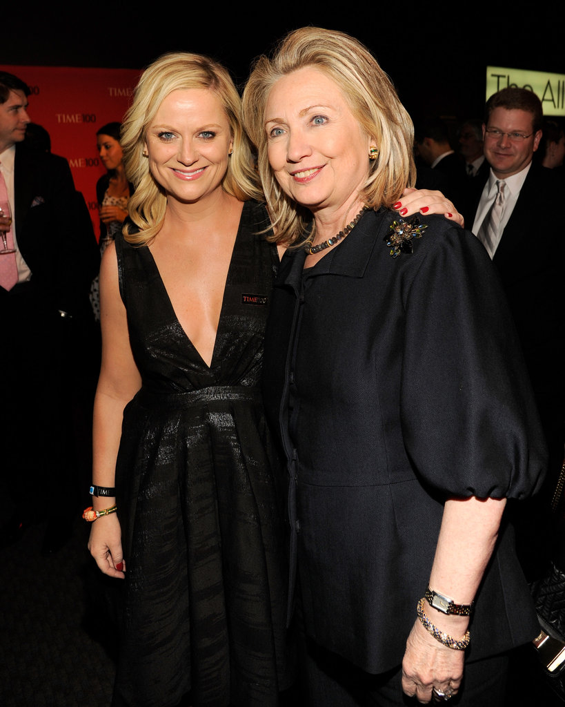 Amy Poehler got together with Hillary Clinton at the Time 100 gala in NYC.