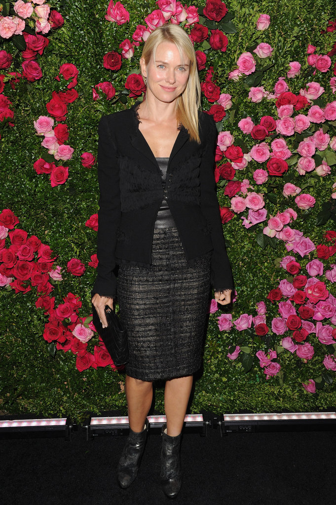Naomi Watts smiled at the Chanel dinner party at the 2012 Tribeca Film Festival.