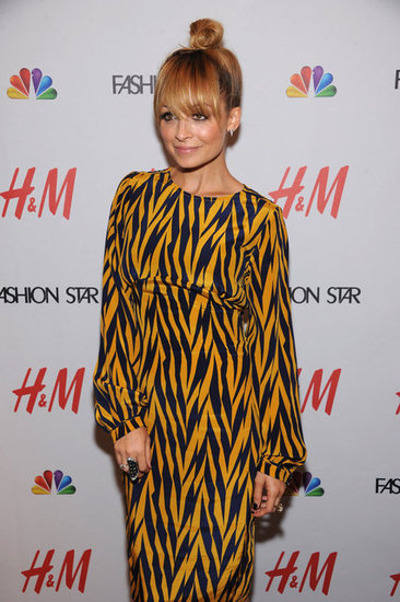 Nicole Richie wore a printed dress.