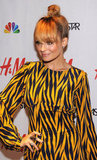 Nicole Richie sported an updo.