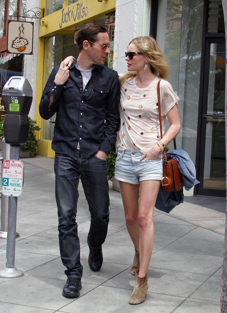 Kate Bosworth and Michael Polish exchanged a glance as they walked out of Jack n' Jill's restaurant in LA.