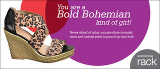 I just took the Nordstrom Rack Spring Style quiz, I'm an Bold Bohemian kind of girl!