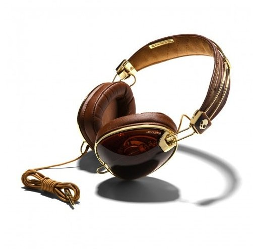 If you look closely, you can actually see the mechanics inside these gorgeous gold-trimmed headphones.  SkullCandy Roc Nation Aviator Headphones ($150)