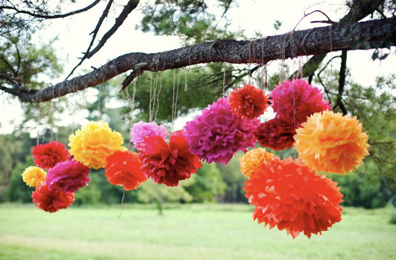Cinco de Mayo is all about the bright colors, so bring on the bold shades with these hanging Fiesta Pom Poms ($20 for five).