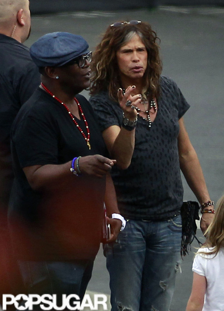 Randy Jackson and Steven Tyler chatted before the show.