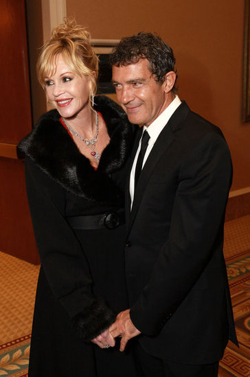 Melanie Griffith and Antonio Banderas got together at CinemaCon in Las Vegas.