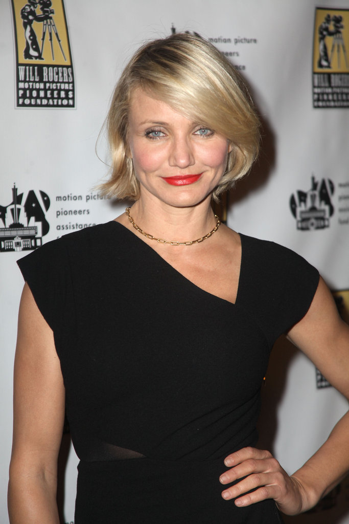 Cameron Diaz posed at CinemaCon in Las Vegas.