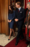 Kate Middleton and Prince William attended a royal reception.