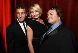 Cameron Diaz, Jack Black, and Antonio Banderas got together to honor Jeffrey Katzenberg at CinemaCon in Las Vegas.