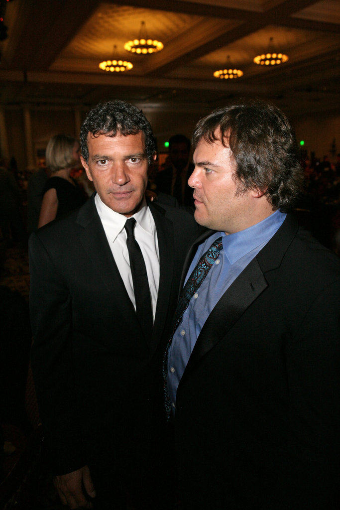 Antonio Banderas and Jack Black had fun at CinemaCon in Las Vegas.