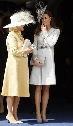 The Duchess of Cambridge watched the procession at the Order of the Garter Service at St. George's Chapel in June 2011.