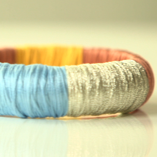 How to Make Thread Wrapped Bracelets