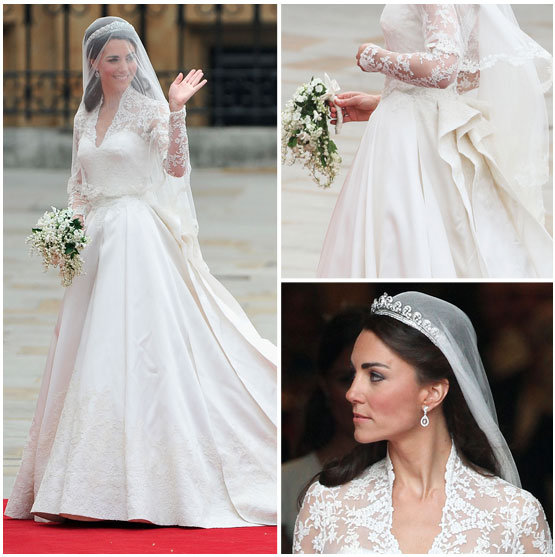 Kate Middleton's Ceremonial Wedding Dress