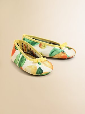 D&G Junior Infant's Print Ballet Flats ($150)