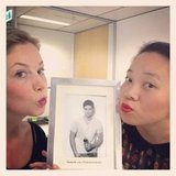 FabSugar ed Ali and PopSugar ed Jess pucker up for Fun Lip Friday!