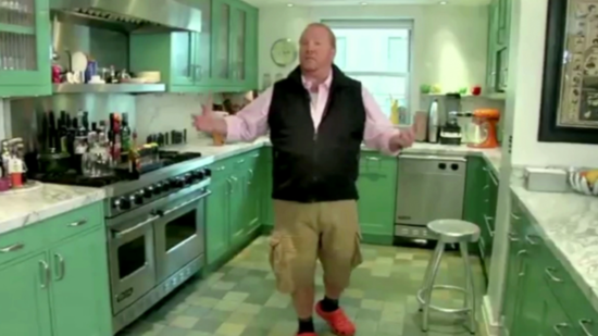 "Mario Batali Shows Off His Kitchen, the ""Second Favorite Room"" in His House"