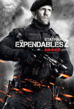 Jason Statham as Lee Christmas in The Expendables 2.
