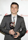 Josh Hutcherson was awarded the breakthrough performer of the year award at the CinemaCon awards ceremony.