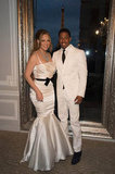 Nick Cannon and Mariah Carey wore matching white and black for their vow-renewal ceremony.
