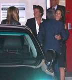 George Clooney and Stacy Keibler stepped out for dinner with good friends Cindy Crawford and Rande Gerber in LA.