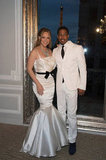 Mariah Carey and Nick Cannon were all smiles for the romantic event.