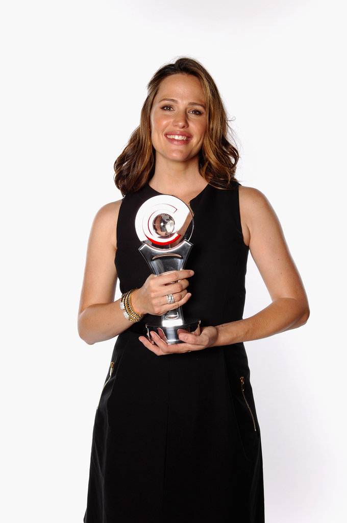 Jennifer Garner was grateful to be awarded the female star of the year at the CinemaCon awards ceremony in Las Vegas.