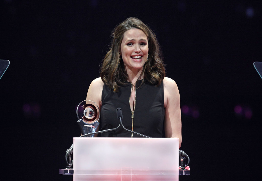 Jennifer Garner was on stage to accept her award for female star of the year at the CinemaCon awards ceremony in Las Vegas.