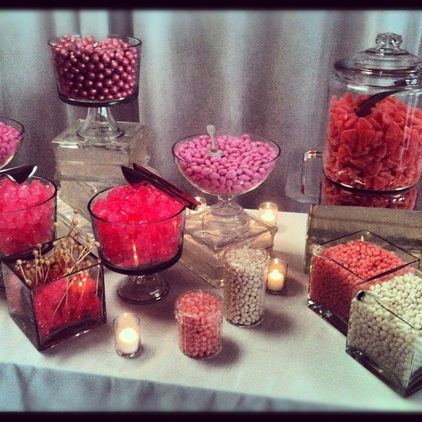 Pop pink sweets at our NewFront fete this week.